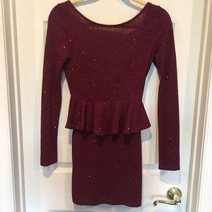 Solemio Burgundy party dress, S